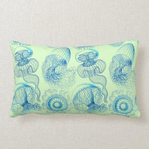 Haeckel's Leptomedusae Throw Pillows