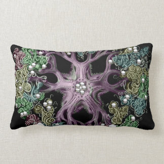 Haekel With Pearls and Color Lumbar Pillow
