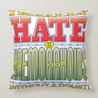 Haemorrhoids Hate Face Throw Pillows