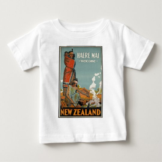 Haere Mai Welcome To New Zealand Baby T-Shirt