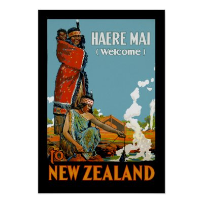 ... New Zealand with a Maori greeting