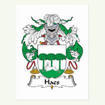 Haes Family Crest Postcard