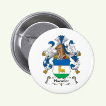 Haeseler Family Crest Button