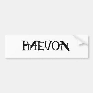 Haevon Bumper Sticker