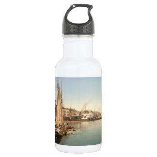 Hafenstrasse, Copenhagen, Denmark Stainless Steel Water Bottle