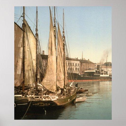 Hafenstrasse of Copenhagen, Denmark Poster