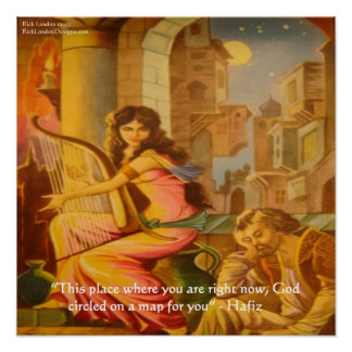 "Hafiz ""God's Circle"" Wisdom Quote Poster"