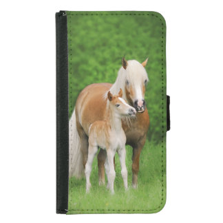 Haflinger Cute Haflinger Foal Kiss Mom Animal Wallet Phone Case For Samsung Galaxy S5