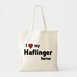 Haflinger horse budget tote bag