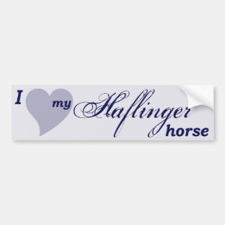 Haflinger horse bumper sticker