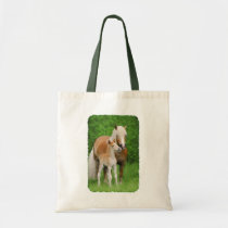 Haflinger Horse Cute Baby Foal Kiss Mum Pony Photo Tote Bag