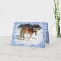 Haflinger Horse Holiday Greeting Card