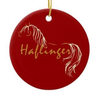 Haflinger Horse Keesake Ornament