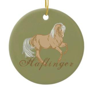 Haflinger Horse Christmas Tree Ornament