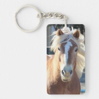 Haflinger Horse Single-Sided Rectangular Acrylic Keychain