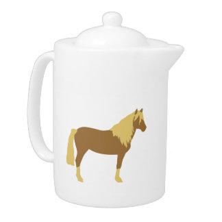 Haflinger horse teapot
