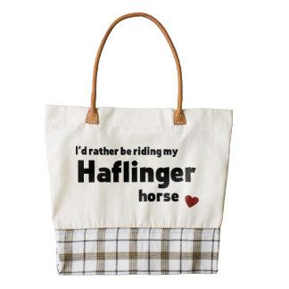 Haflinger horse zazzle HEART tote bag