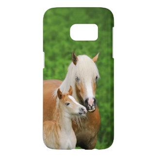 Haflinger Horses Cute Foal Kiss Mum  - Phonecase Samsung Galaxy S7 Case