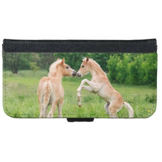 Haflinger Horses Foals Rearing Galaxy Wallet Case