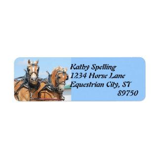Haflinger Horses Label