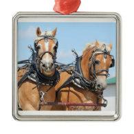 Haflinger Horses Ornament