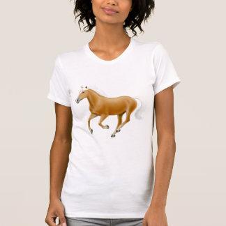 Haflinger Palomino Horse Ladies Scoop Neck Shirt