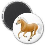 Haflinger Palomino Horse Magnet White