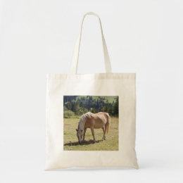 Haflinger Palomino Pony in Green Pasture Photo Tote Bag