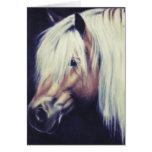 """""""Haflinger Pony"""" equine card"""