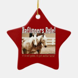 Haflingers Rule Ceramic Ornament
