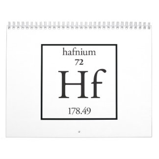 Hafnium Wall Calendar
