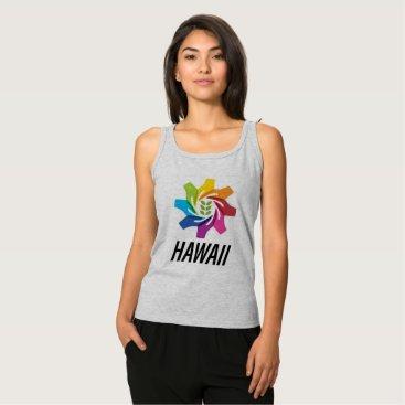 Hawaiian Themed HAfS Women's Basic Tank Top (Grey/Hawaii Logo)
