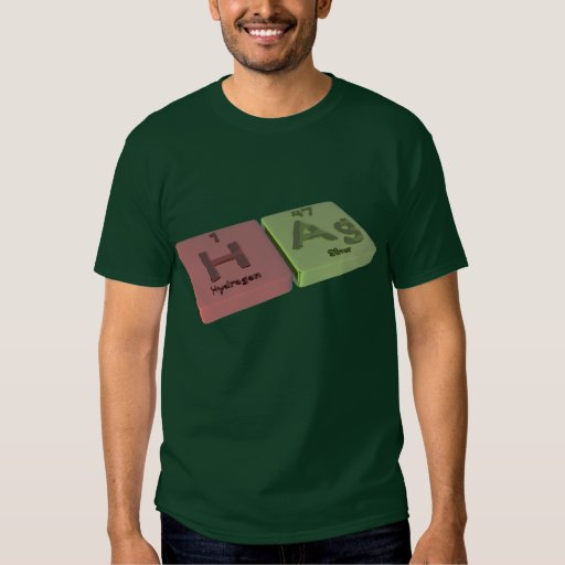 Hag  as H hydrogen and Ag Silver T-Shirt
