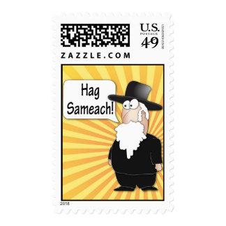 Hag Sameach Postage stamps - Funny rabbi