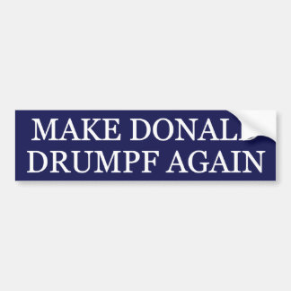 Haga a Donald Drumpf otra vez Pegatina Para Auto
