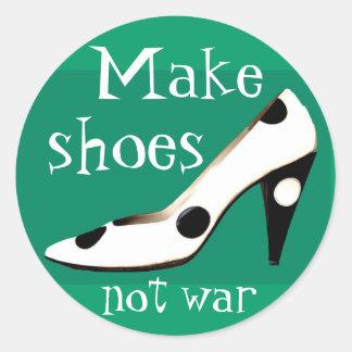 Haga a los pegatinas de la moda de la guerra de pegatina redonda