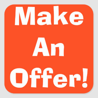 Haga a los pegatinas de la oferta de una venta de pegatina cuadrada