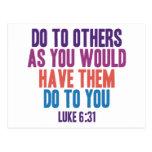 Haga a otros pues usted hizo que hicieran a usted postales