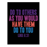 Haga a otros pues usted hizo que hicieran a usted tarjeta postal
