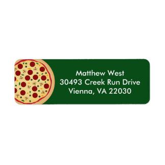 Haga a su propia fiesta de cumpleaños de la pizza etiquetas de remite