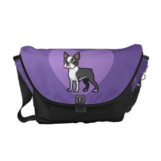 Haga a su propio mascota del dibujo animado bolsas messenger