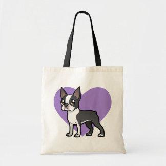 Haga a su propio mascota del dibujo animado bolsa tela barata