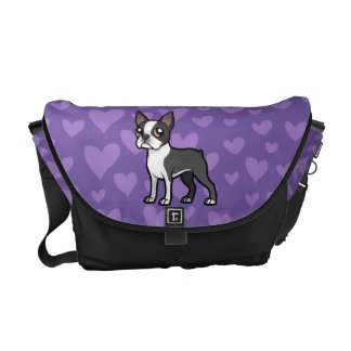 Haga a su propio mascota del dibujo animado bolsa messenger