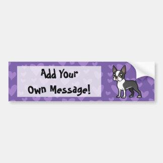 Haga a su propio mascota del dibujo animado etiqueta de parachoque