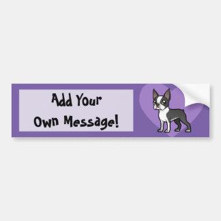 Haga a su propio mascota del dibujo animado pegatina de parachoque