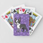 Haga a su propio mascota del dibujo animado baraja cartas de poker