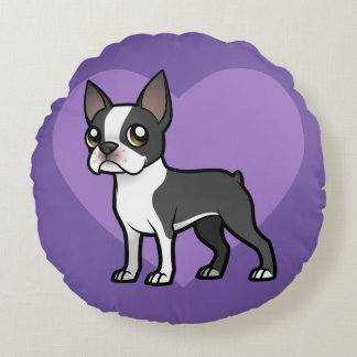 Haga a su propio mascota del dibujo animado cojín redondo