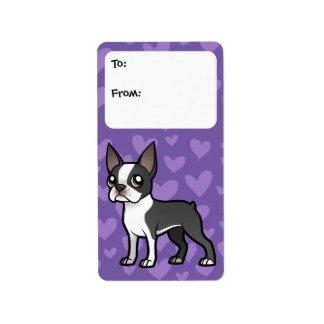 Haga a su propio mascota del dibujo animado etiqueta de dirección
