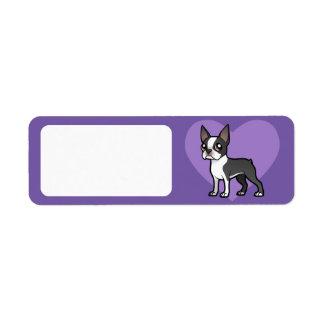 Haga a su propio mascota del dibujo animado etiqueta de remitente