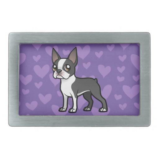 Haga a su propio mascota del dibujo animado hebilla cinturon rectangular